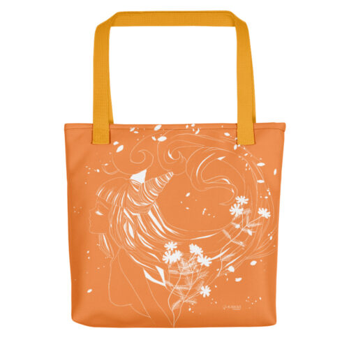 Shopping Bag Floral Orange