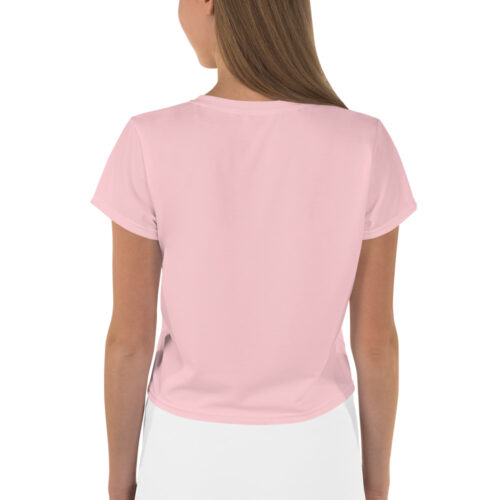 T-shirt corta con stampa all-over Floral Pink