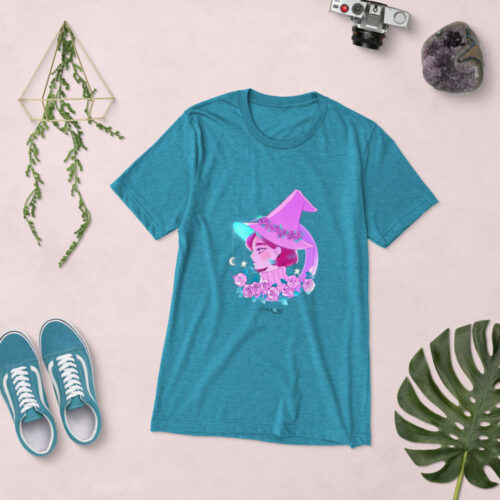 T-Shirt Manica Corta Pink Witch