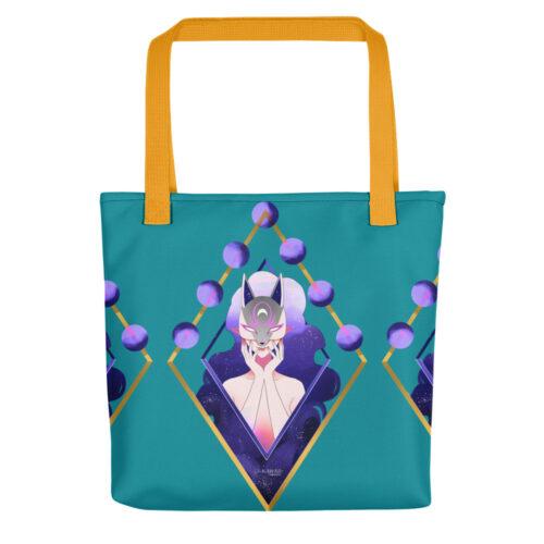 Shooping Bag Turquoise Mask Fox